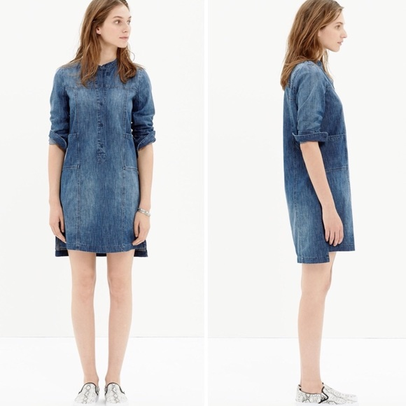 Madewell Dresses & Skirts - Madewell Denim Blue Downshift Shirtdress Size XS